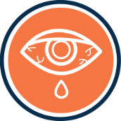 Itchy eye icon